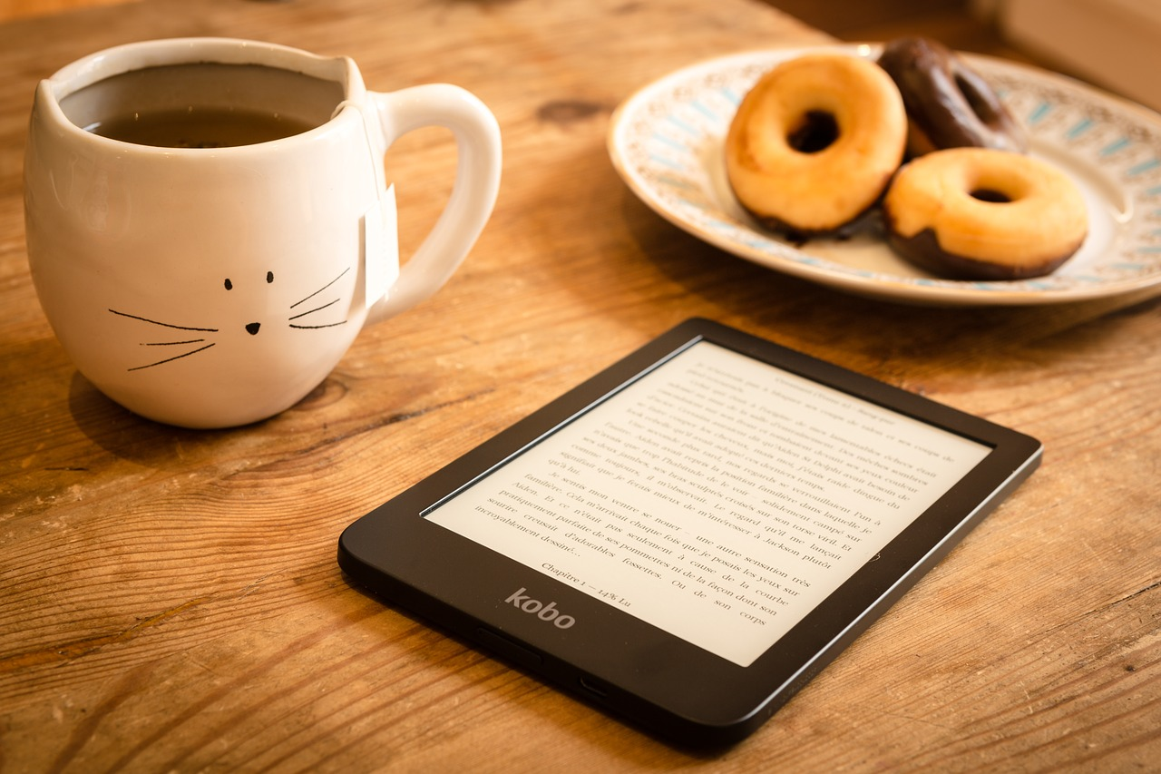 Book, Coffee and Donut